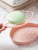Недорогие -форма листьев двойной мыльница пластиковая ванная сливная мыльница туалет большой мыльница мыльница мыльница