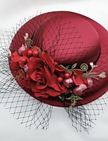cheap -Net Fascinators with Flower 1 Piece Wedding / Horse Race Headpiece