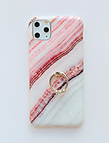 cheap -Case For Apple iPhone 7 8 7 Plus 8 Plus X XS XR XS Max SE 11 11 Pro 11 Pro Max Ring Holder Pattern Back Cover Marble TPU