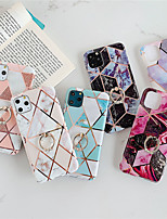 cheap -Case For Apple iPhone 11 / iPhone 11 Pro / iPhone 11 Pro Max Shockproof / Plating / Ring Holder Back Cover Marble TPU