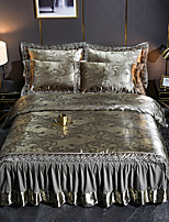 cheap -Nordic Modal Tencel Satin Jacquard Lace Sheet 4 Piece Bedding Set