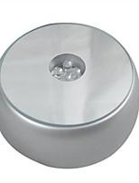Недорогие -4leds светящаяся база светлое кристаллическое стекло прозрачные предметы дисплей лазерная красочная круглая подставка подставка для коктейля