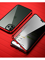 Недорогие -Кейс для Назначение Apple iPhone 11 / iPhone 11 Pro / iPhone 11 Pro Max Защита от удара / Зеркальная поверхность Чехол Плитка Закаленное стекло / Металл