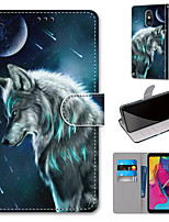 cheap -Case For Motorola Moto G8 Play / Moto G8 Plus / MOTO E6 plus Wallet / Card Holder / with Stand Full Body Cases Wolf PU Leather / TPU for MOTO E6 Play / MOTO G7 / MOTO G7 Plus
