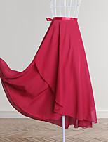 cheap -Ballroom Dance Dance Costumes Skirts Cascading Ruffles Women's Training Performance Chiffon