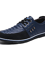 cheap -Men's Spring / Summer Business / Classic / Casual Daily Office & Career Oxfords Walking Shoes Faux Leather Breathable Non-slipping Wear Proof Black / Blue / Brown