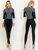 cheap -SBART Women's Rash Guard Dive Skin Suit Patchwork Sun Shirt Bodysuit Swimwear Black / Pink UV Sun Protection Breathable Quick Dry Long Sleeve - Swimming Surfing Snorkeling Autumn / Fall Spring