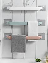 cheap -Self-adhesive Towel Holder Rack Wall Mounted Towel Hanger Bathroom Towel Bar Shelf Roll Holder Hanging Hook Bathroom Organizer Color Random 3pcs