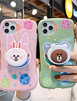 cheap -Case For Apple iPhone 11 11 Pro 11 Pro Max Connie Bear pattern Creative stand TPU material Painting process Glossy Little Waist phone case