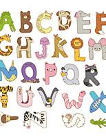 cheap -Removable Cartoon Cute Animals Letter Alphabet Waterproof PVC DIY Wall Sticker Kids Room Door Decor
