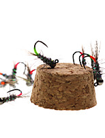 cheap -6 pcs Flies Flies Fast Sinking Bass Trout Pike Fly Fishing Ice Fishing Jigging Fishing Metal