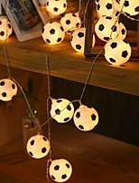 Недорогие -1,5 м Гирлянды 10 светодиоды Тёплый белый Для вечеринок / Декоративная 5 V