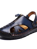 cheap -Men's Summer Casual Daily Sandals PU Non-slipping Black / Blue / Brown