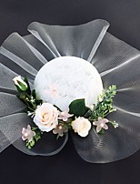 cheap -Net Fascinators with Flower 1 Piece Wedding / Tea Party Headpiece