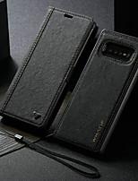 Недорогие -новый водонепроницаемый крафт-бумага магнитный кожаный флип чехол для Samsung Galaxy Note 10 / Note 10 Plus / S10 Plus / S9 Plus / S8 Plus / S10 / S9 / S8 / S10E / S10 5G слот для карт памяти слот
