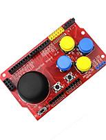 Недорогие -Щит джойстика для Arduino имитация клавиатуры мышь беспроводная&усилитель; тактильная кнопка