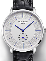 cheap -GUANQIN Men's Digital Watch Japanese Quartz Formal Style Genuine Leather Black 30 m Casual Watch Analog - Digital Fashion - White+Blue Black+Gloden White+Golden Two Years Battery Life