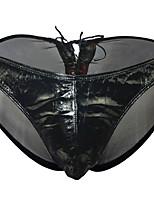 Недорогие -Муж. Классический Брифы - Нормальная Заниженная Черный Один размер