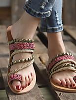 cheap -Women's Sandals Flat Sandal Summer Flat Heel Open Toe Daily PU Pink