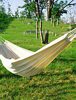 cheap -Easy Carry White Canvas Hammock Paint Yourself  Wholesale Solid Color 2 Meters Single Double Hammock Outdoor Hammock Foreign Trade Order Customization