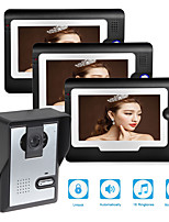 Недорогие -проводной 7-дюймовый громкой связи 800 * 480 пикселей от одного до трех видео домофон