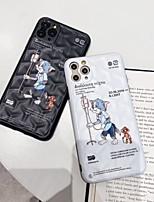 Недорогие -Кейс для Назначение Apple iPhone 11 / iPhone 11 Pro / iPhone 11 Pro Max Защита от удара / IMD / С узором Кейс на заднюю панель Слова / выражения / Животное / Мультипликация ПК