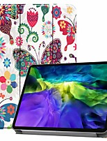 cheap -Case For Pro 11''(2020) / iPad 10.2''(2019) / Ipad air3 10.5'(2019) Shockproof / with Stand / Flip Full Body Cases Butterfly PU Leather Case For iPad (2017) / iPad Mini 5/4 iPad (2018) / iPad Air2
