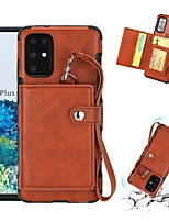 Недорогие -Кейс для Назначение SSamsung Galaxy S20 Plus / S20 Ultra / S20 Кошелек / Бумажник для карт / Защита от удара Кейс на заднюю панель Однотонный Кожа PU / ТПУ