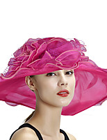cheap -Queen Elizabeth Audrey Hepburn Retro Vintage Summer Kentucky Derby Hat Fascinator Hat Women's Costume Light Sky Blue / Coral Pink / White Vintage Cosplay Party Evening Tea Party Festival