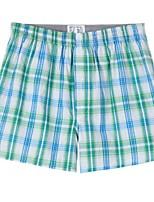 cheap -Men's Print / Basic Boxers Underwear - Plus Size Mid Waist Green M L XL