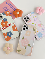 cheap -Case For Apple iPhone 11 / iPhone 11 Pro / iPhone 11 Pro Max Shockproof / with Stand / Pattern Back Cover Cartoon / Flower PC