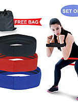 cheap -Booty Bands Resistance Bands for Legs and Butt 3 pcs Sports Latex silk Yoga Pilates Exercise & Fitness Strength Training Durable Muscular Bodyweight Training Resistance Training Build Muscle, Tone