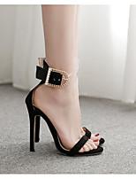 Недорогие -Жен. Обувь на каблуках На шпильке Заостренный носок Полиуретан Лето Черный / Бежевый