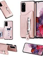 Недорогие -Кейс для Назначение SSamsung Galaxy Note 9 / Galaxy S10 / Galaxy S10 Plus Кошелек / Бумажник для карт / со стендом Кейс на заднюю панель Однотонный Кожа PU