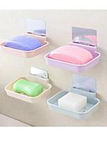Недорогие -смайлик multifunctioanl бесшовные приклеены настенные пластиковые мыльница цвет случайный 4 шт