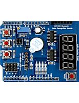 Недорогие -многофункциональный модуль платы расширения щита с 4 цифровыми дисплеями светодиодный индикатор зуммер для модуля обучения плат Arduino