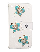 cheap -Case For Samsung Galaxy A6/A6 Plus/Galaxy A7(2018) Wallet / Card Holder / Rhinestone Full Body Cases Solid Colored PU Leather For Galaxy Note 10 Plus/S10E/S10/J4 Plus/J6 Plus/M10/M20/M30/S10 5G