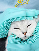 cheap -Dog Cat Brushes Cleaning Silica Gel Baths Casual Pet Grooming Supplies Random Color