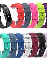 Недорогие -Ремешок для часов для Fitbit Ace 2 / Fitbit Inspire HR / Fitbit Inspire Fitbit Спортивный ремешок / Классическая застежка силиконовый Повязка на запястье