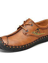cheap -Men's Spring & Summer / Fall & Winter Casual / Vintage Daily Office & Career Sneakers Faux Leather Breathable Non-slipping Wear Proof Light Brown / Black / Khaki