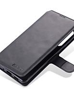 Недорогие -Кейс для Назначение SSamsung Galaxy S20 Plus / S20 Ultra / S20 Кошелек / Бумажник для карт / Флип Чехол Однотонный Кожа PU