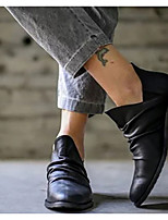 cheap -Women's Boots Low Heel Round Toe PU Mid-Calf Boots Fall & Winter Black / Gray