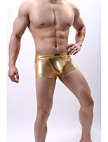 cheap -Men's Basic Boxers Underwear Low Waist Gold Blue Silver M L XL