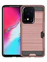 Недорогие -Кейс для Назначение SSamsung Galaxy S20 Plus / S20 Ultra / S20 Бумажник для карт Кейс на заднюю панель Однотонный Кожа PU
