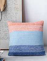 cheap -1 pcs Polyester Pillow Cover, Color Block Leisure Square Traditional Classic