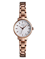 cheap -SKMEI Women's Quartz Watches Classic Elegant Silver Rose Gold Stainless Steel Chinese Quartz Rose Gold Silver Water Resistant / Waterproof New Design Casual Watch 30 m 1 pc Analog One Year Battery