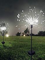 Недорогие -LOENDE 12.5cm Гирлянды 120 светодиоды 1 комплект Тёплый белый / Белый / Разные цвета Рождество / Новый год Водонепроницаемый / Работает от солнечной энергии / Новогоднее украшение для свадьбы