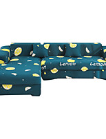 cheap -Lemon Print Dustproof All-powerful Slipcovers Stretch Sofa Cover Super Soft Fabric Couch Cover with One Free Pillow Case