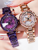 cheap -Women's Steel Band Watches Luxury Fashion Stainless Steel Japanese Quartz Rose Gold Purple Water Resistant / Waterproof 30 m 1 pc Analog One Year Battery Life
