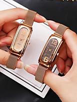 cheap -Ladies Quartz Watches Elegant Fashion Rose Gold Alloy Chinese Quartz Gold Black Casual Watch 1 pc Analog One Year Battery Life